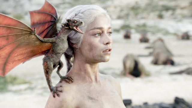 Emilia Clarke as Daenerys - Game Of Thrones, Series 1 - Episode 10, Fire and Blood (HBO)