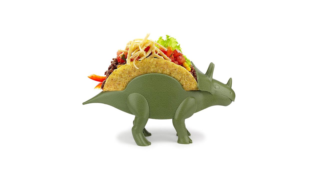 "<p>TriceraTaco Holder, $15, <a rel=""nofollow"" href=""https://www.amazon.com/dp/B01LZNTN8S/ref=strm_fun_79_nad_52_3"">amazon.com</a> </p>"