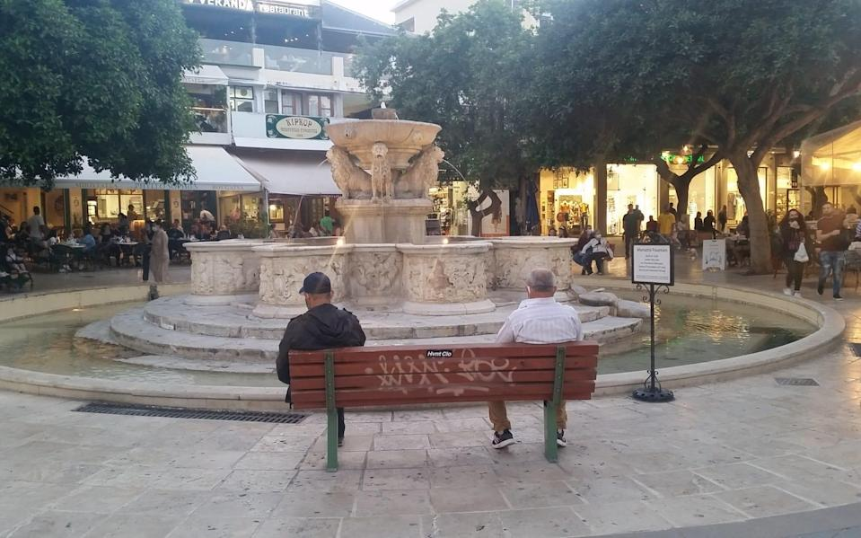 After a slow start, the streets of Heraklion filled as night fell - Heidi Fuller-Love