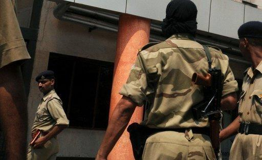<p>Indian police patrol the area around a New Delhi metro station in 2008. An Indian man shot and killed his teenaged neighbour in a rage after she objected to him urinating near the gate of their home in the heart of New Delhi, police say.</p>