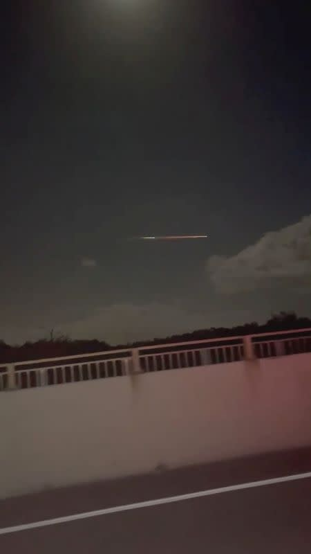 Space junk falling over the Sunshine Coast is seen in Queensland