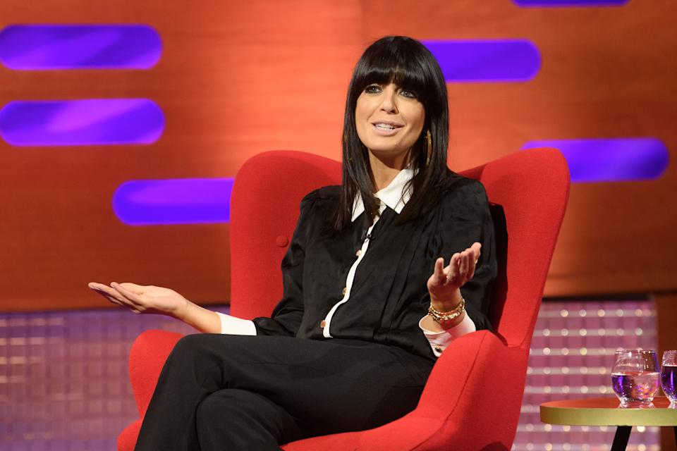 EDITORIAL USE ONLY Claudia Winkleman during the filming for the Graham Norton Show at BBC Studioworks 6 Television Centre, Wood Lane, London, to be aired on BBC One on Friday evening.