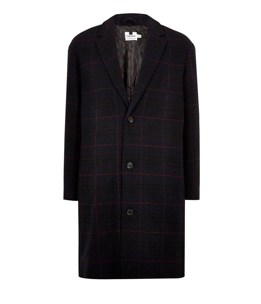 "<p>This plaid coat resembles the Burberry version Elba wears but costs a fraction of the price. <br>Shop it: Topman Navy Check Oversized Overcoat, $200, <a href=""https://fave.co/2Orybhf"" rel=""nofollow noopener"" target=""_blank"" data-ylk=""slk:topman.com."" class=""link rapid-noclick-resp"">topman.com.</a> </p>"