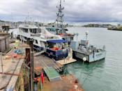 The Jamaican-flagged yacht Kahu at an undisclosed location (NCA/PA)