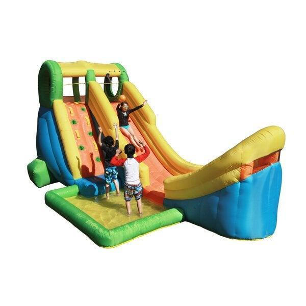 "<h2><a href=""https://www.wayfair.com/keyword.php?keyword=outdoor+inflatable+pool"" rel=""nofollow noopener"" target=""_blank"" data-ylk=""slk:Wayfair"" class=""link rapid-noclick-resp"">Wayfair</a></h2> <br>If you've graduated past kiddie pools and are inching into full-on backyard water-park territory, then Wayfair's flashy inflatables have you covered. <br><br><strong>Sportspower</strong> Inflatable Half Pipe Water Slide, $, available at <a href=""https://go.skimresources.com/?id=30283X879131&url=https%3A%2F%2Fwww.wayfair.com%2Foutdoor%2Fpdp%2Fsportspower-inflatable-half-pipe-water-slide-sppw1025.html"" rel=""nofollow noopener"" target=""_blank"" data-ylk=""slk:Wayfair"" class=""link rapid-noclick-resp"">Wayfair</a><br>"