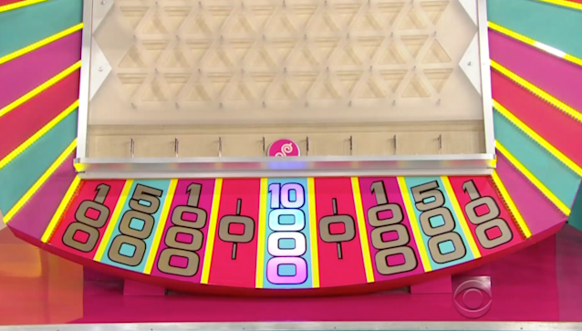 The contestant, Ryan, landed on $10,000 three times playing Plinko on <em>The Price Is Right</em>. (Photo: CBS)