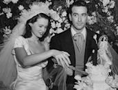 <p>Heiress Gloria Vanderbilt wed movie producer Pat DiCicco in Beverly Hills on December 28,1941. Even back then, the future fashion designer was ahead of her time: Even though cake toppers (reportedly) made their debut during the Victorian era, they didn't become popular until the 1950s. </p>
