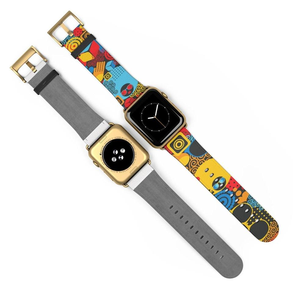 <p>This colorful <span>Abstract Watch Band </span> ($35) will polish up your look even more.</p>