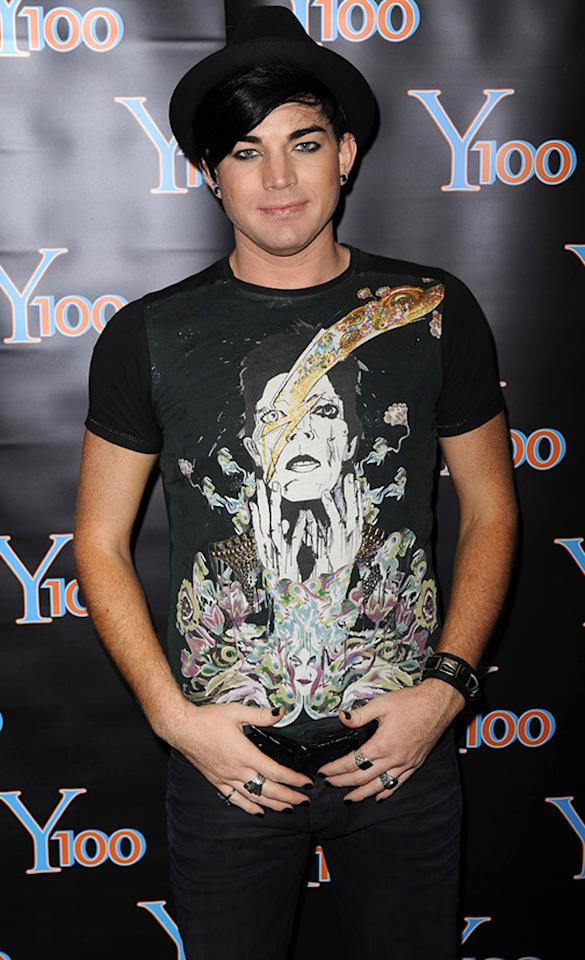 """January 29: Adam Lambert turns 29 Larry Marano/<a href=""""http://www.gettyimages.com/"""" target=""""new"""">GettyImages.com</a> - September 19, 2010"""