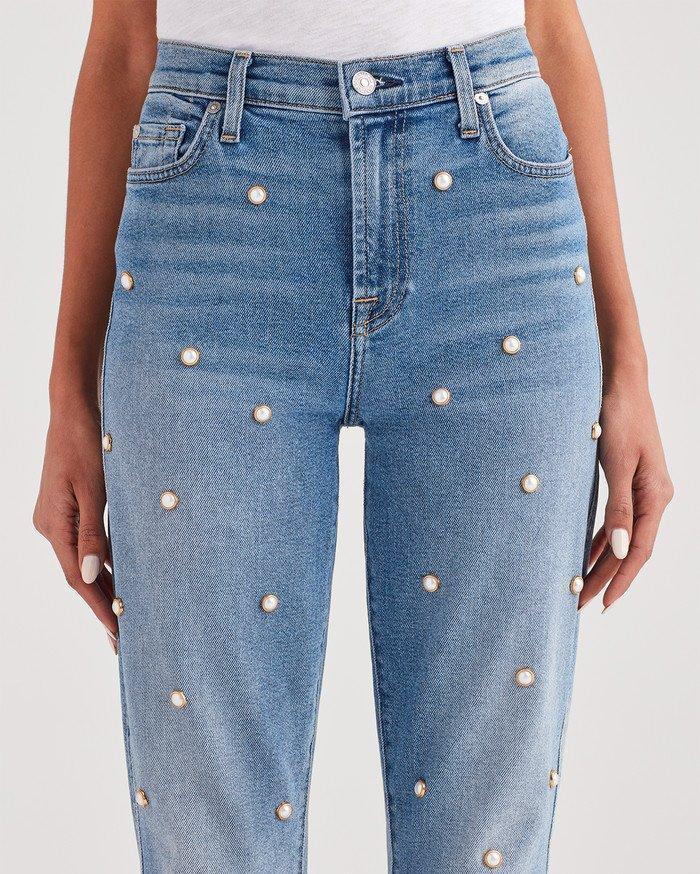 Luxe Vintage Edie with All Over Pearl Studs $99 (Photo: 7 For All Mankind)