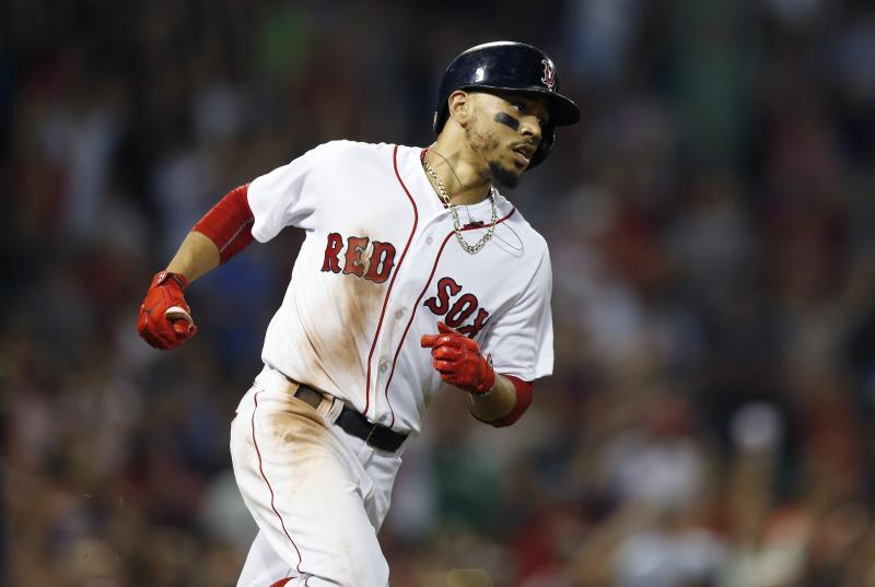 Mookie Betts hit a big home run to give him the first cycle of 2018. More