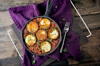 """<div class=""""caption-credit""""> Photo by: Naturally Ella</div><div class=""""caption-title"""">Zucchini (Summer) Paella</div>""""I am madly in love with this dish,"""" writes Naturally Ella, and with its smart use of end-of-season tomatoes and zucchini fragrant with smoked paprika and turmeric, we can see why. <br> <br> <b>Recipe: <a rel=""""nofollow noopener"""" href=""""http://naturallyella.com/2012/07/06/zucchini-summer-paella/"""" target=""""_blank"""" data-ylk=""""slk:Zucchini (Summer) Paella"""" class=""""link rapid-noclick-resp"""">Zucchini (Summer) Paella</a></b> <br>"""