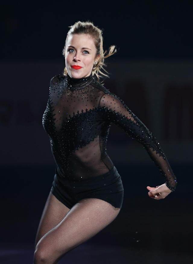 FUKUOKA, JAPAN - DECEMBER 08: Ashley Wagner of USA performs her routine in the Gala during day four of the ISU Grand Prix of Figure Skating Final 2013/2014 at Marine Messe Fukuoka on December 8, 2013 in Fukuoka, Japan. (Photo by Atsushi Tomura/Getty Images)