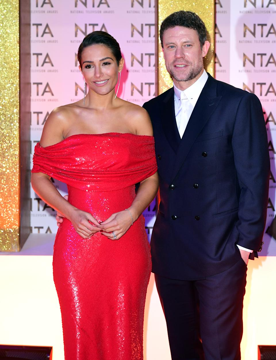 Frankie Bridge and Wayne Bridge during the National Television Awards at London's O2 Arena. (Photo by Ian West/PA Images via Getty Images)