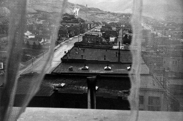 PHOTO: View from hotel window, Butte, Montana, 1956. (Robert Frank from The Americans, courtesy Pace MacGill)