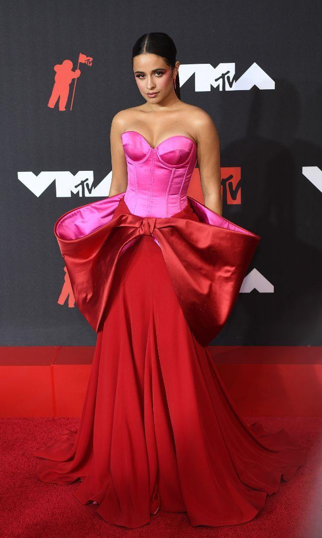 Camila Cabello arrives on the red carpet for the 2021 MTV Video Music Awards in New York, Sept. 12. - Credit: Jeremy Smith/imageSPACE/MEGA