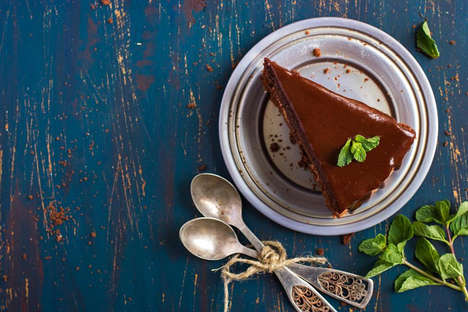 """<p>A classic combination, there are plenty of chestnut and chocolate torte recipes lurking around the internet just waiting for you to try them. Add a splash of cream and you've got a great autumn dessert. <a href=""""https://www.jamieoliver.com/recipes/chocolate-recipes/chocolate-truffle-chestnut-torte-with-honeycomb/"""" rel=""""nofollow noopener"""" target=""""_blank"""" data-ylk=""""slk:Jamie Oliver's chocolate truffle chestnut torte"""" class=""""link rapid-noclick-resp"""">Jamie Oliver's chocolate truffle chestnut torte</a> is a good place to start [Photo: Getty] </p>"""