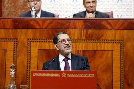 Moroccan Prime Minister Saad Eddine el-Othmani delivers his first speech presenting the government's program at the Moroccan Parliament in Rabat