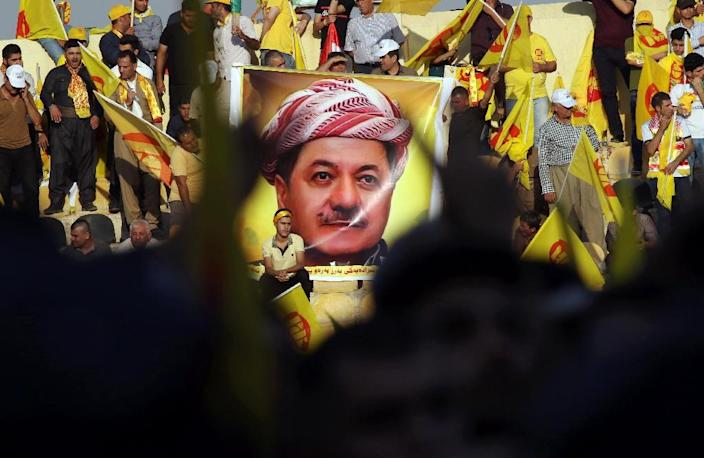 His nephew is president, his son now prime minister of Iraq's autonomus Kurdish region but longtime leader Masoud Barzani is expected to remain the real power in the land (AFP Photo/SAFIN HAMED)