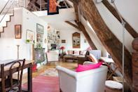 """<p>With its original 350 year-old beams, hardwood floors and antique floor tiles, this Airbnb near Paris' Luxembourg Garden feels like a country home in the heart of the city. It's quiet, open and airy, and furnished with warm, rich hues. The rooftop duplex has features like the stairwell, mantelpiece, sinks and cabinets sourced from French antique markets.</p><p><strong>Sleeps:</strong> 4</p><p><strong>Price per night:</strong> £226</p><p><a class=""""link rapid-noclick-resp"""" href=""""https://airbnb.pvxt.net/3P95en"""" rel=""""nofollow noopener"""" target=""""_blank"""" data-ylk=""""slk:SEE INSIDE"""">SEE INSIDE</a></p>"""