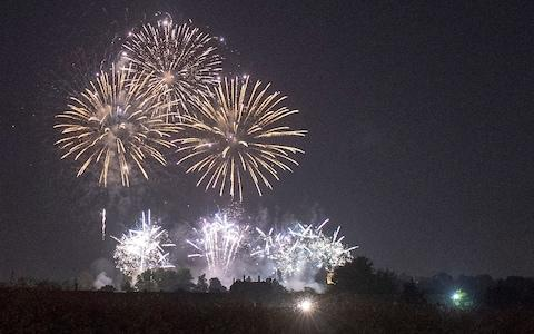 A Firework Display Takes Place At Frogmore House. - Credit: Steve Finn