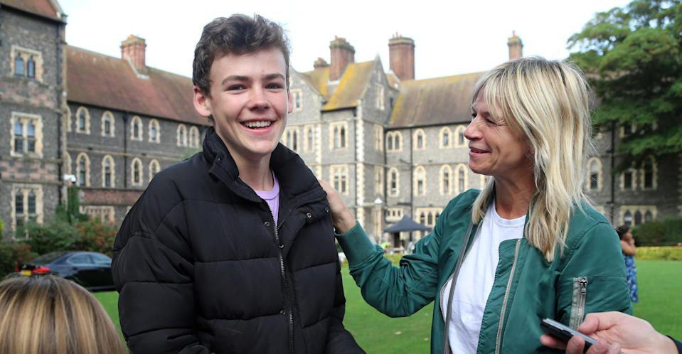 Woody Cook with his mother Zoe Ball in 2017 (PA Images)