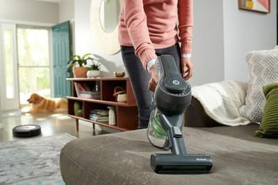The iRobot H1 handheld vacuum rounds out a Roomba® or Braava® robot user's cleaning routine by tackling spaces like couches and stairs. (PRNewsfoto/iRobot Corporation)