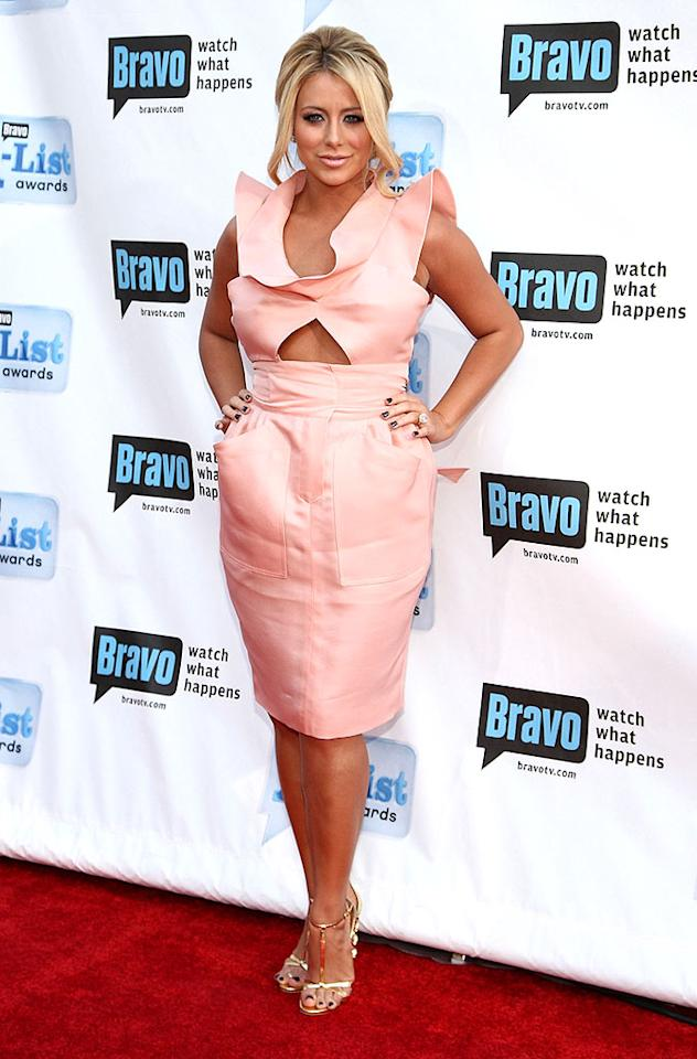 """Former Danity Kane chanteuse Aubrey O'Day donned an ill-fitting Chloe spring '09 dress, which was far from peachy keen. Alberto E. Rodriguez/<a href=""""http://www.gettyimages.com/"""" target=""""new"""">GettyImages.com</a> - April 5, 2009"""