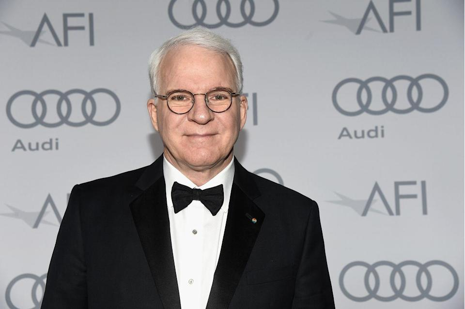 """<p>Comedian Steve Martin has a storied career in Hollywood, but the actor has about <a href=""""https://abcnews.go.com/WN/PersonOfWeek/man-banjo-steve-martin-discusses-lifelong-passion-winning/story?id=14692843"""" rel=""""nofollow noopener"""" target=""""_blank"""" data-ylk=""""slk:60 years of banjo playing under his belt"""" class=""""link rapid-noclick-resp"""">60 years of banjo playing under his belt</a> too. In 2009, he released his first bluegrass album <a href=""""https://open.spotify.com/album/3R61oxnuAC6eHzbdNeLCTr?si=Ydw-U2RhRhmciWlhllxPUQ"""" rel=""""nofollow noopener"""" target=""""_blank"""" data-ylk=""""slk:The Crow"""" class=""""link rapid-noclick-resp""""><em>The Crow</em></a>, which won Best Bluegrass Album at the 2010 Grammys. In 2011, he paired up with the band Steep Canyon Rangers for <a href=""""https://open.spotify.com/album/3R61oxnuAC6eHzbdNeLCTr?si=Sp1ooxfDSD--RB0QSqSByw"""" rel=""""nofollow noopener"""" target=""""_blank"""" data-ylk=""""slk:Rare Bird Alert"""" class=""""link rapid-noclick-resp""""><em>Rare Bird Alert</em></a>. With six albums, Steve is one of the most successful actors-turned-musicians.</p>"""