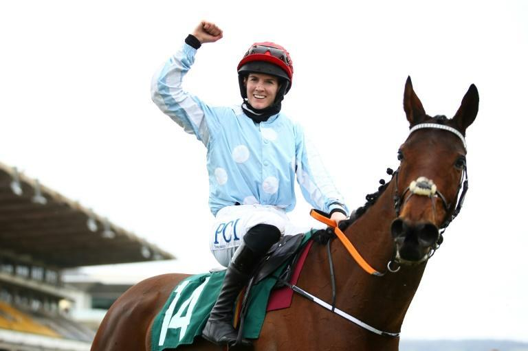 Jockey Rachael Blackmore is the first woman to win the top jockey award at Cheltenham