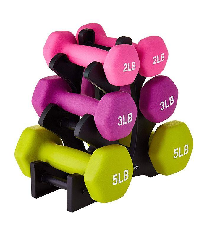 Yoga and Gym Classes Phoenix Fitness Pair of Neoprene Dumbbell Ideal for Pilates Dumbbells Weight for Home and Gym Fitness Exercise Workout Training for Arms and Hands