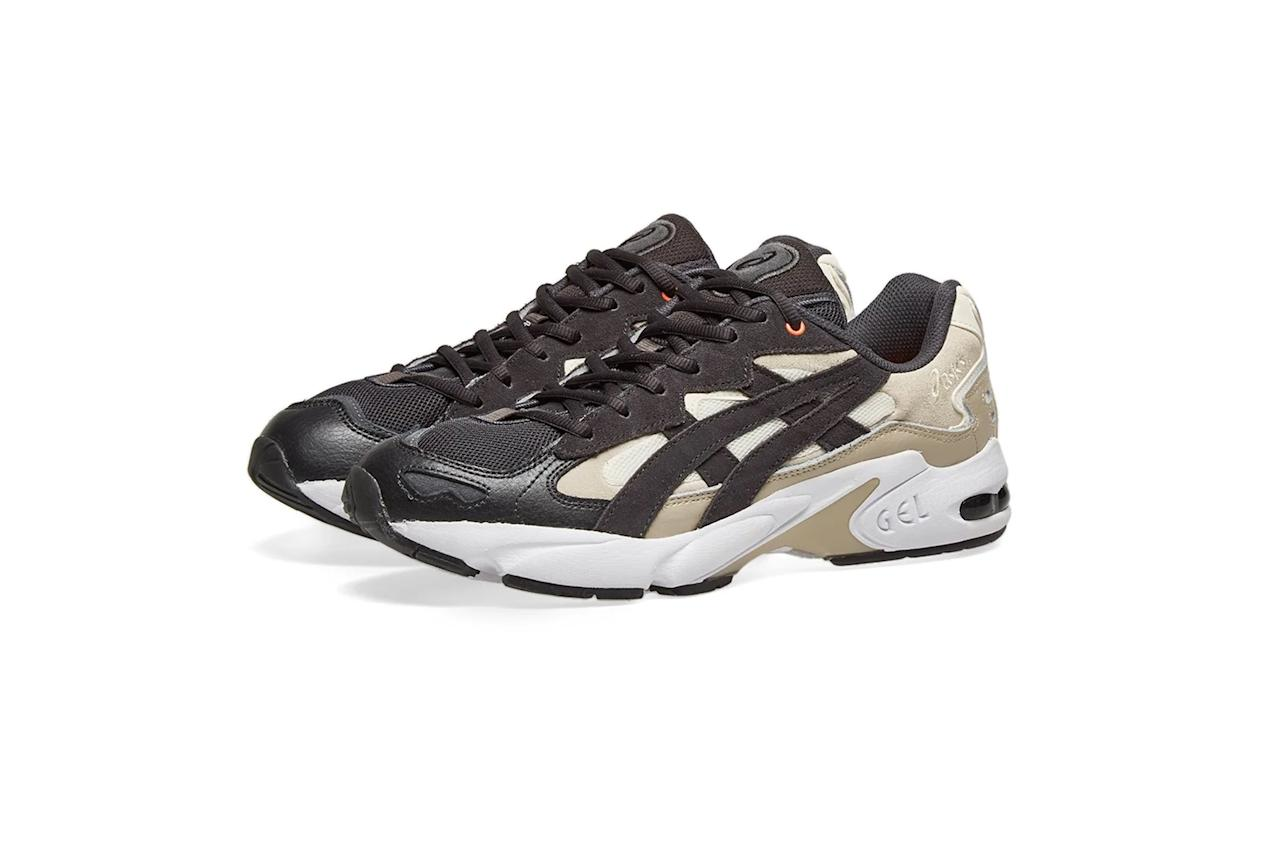"""$145, End Clothing. <a href=""""https://www.endclothing.com/us/asics-x-reigning-champ-gel-kayano-5-1021a167-100.html"""">Get it now!</a>"""