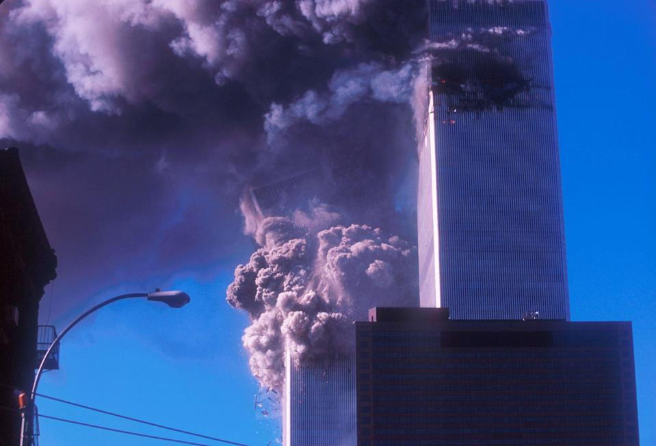 Sharon Premoli was on 80th floor of North Tower when it was struck (Getty Images)