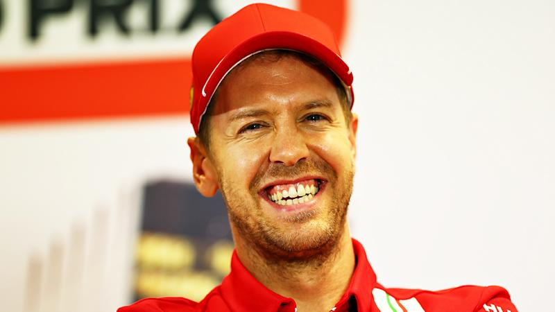Sebastian Vettel, pictured at a preview event for the Australian Grand Prix in March. The race was later cancelled.