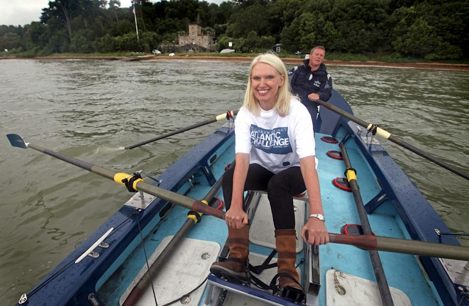 Television presenter Anneka Rice launches the Talisker Whisky Atlantic Challenge 2013 on the eve of ladies day at Aberdeen Asset Management Cowes Week. (Credit: PA)