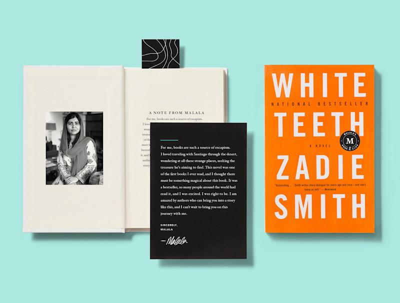 "Special edition of ""White Teeth"" for Malala Yousafzai's curated book club, Fearless."