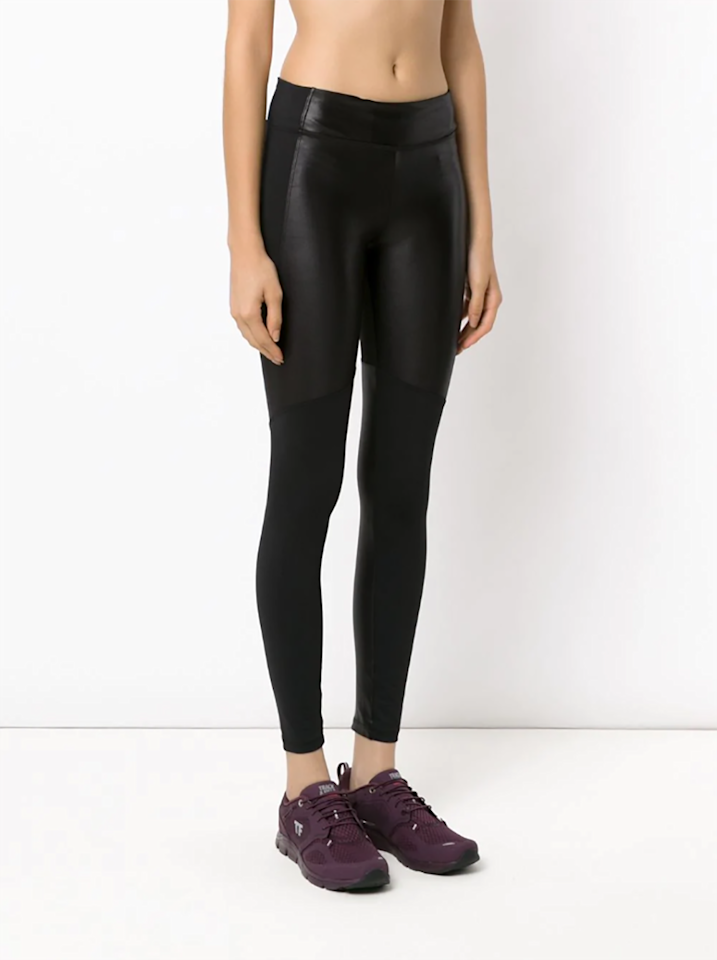 """<p>For the person who practically lives in leather leggings in winter, here's a pair of breathable leather-paneled ones that you could actually exercise in (and accessorize with heels and a jacket beyond the gym).</p> <p><em>Available in sizes XS to XL.</em></p> <p><strong>Buy it:</strong> $41 (originally $98), <a href=""""https://www.farfetch.com/shopping/women/track-field-panelled-legging-item-12778130.aspx?storeid=9682"""" rel=""""nofollow"""">farfetch.com</a></p>"""