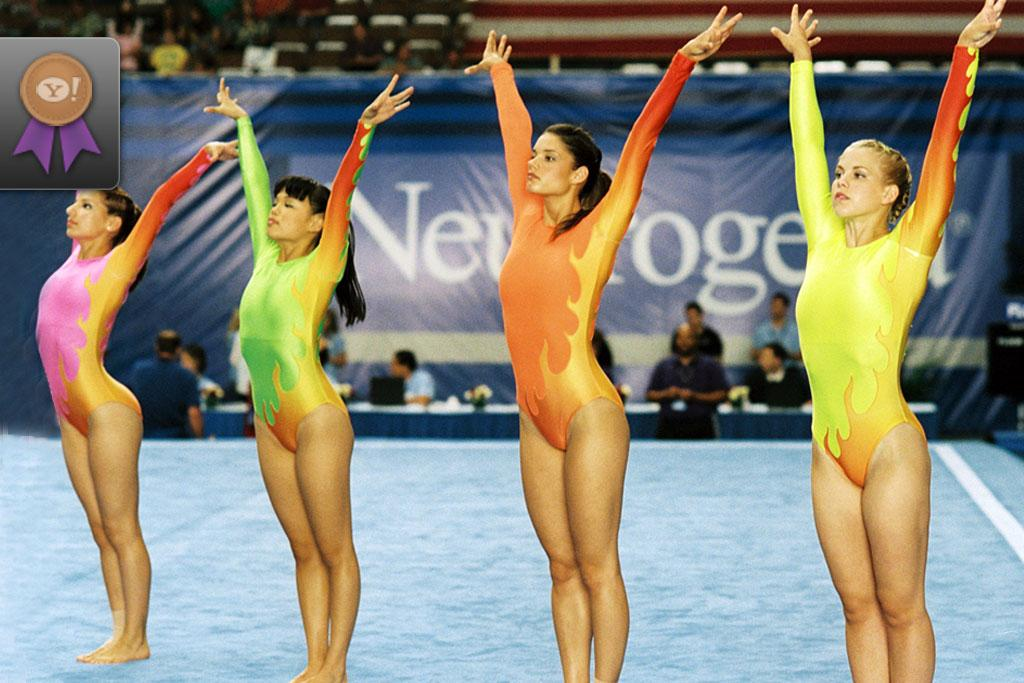 """Bronze - <a href=""""http://movies.yahoo.com/movie/1808762598/info"""">Stick It</a>  Women's gymnastics has traditionally been the sport of tiny, well-mannered pixie types from Olga Korbut to Kerri Strug. So when tall, tenacious Haley (<a href=""""http://movies.yahoo.com/movie/contributor/1808463651"""">Missy Peregrym</a>) is forced to return to the sport after getting arrested, naturally she shakes things up. Thankfully, she has an equally hard-nosed coach (<a href=""""http://movies.yahoo.com/movie/contributor/1800011634"""">Jeff Bridges</a>) who stands up not just to her, but to competition judges with their archaic rules."""