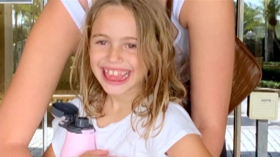 Stella Cattarossi, 7, was found among the rubble of the fallen Florida apartment complex. Source: WPLG