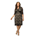 """Lace dresses pretty much equal elegance, right? Right. The black lace over the nude lining makes for subtle contrast on this evening dress—plus, the size-inclusive offerings range up from 0X to5X. $158, Amazon. <a href=""""https://www.amazon.com/Kiyonna-Womens-Scalloped-Boudoir-Lining/dp/B0011G5JWQ/?th=1"""" rel=""""nofollow noopener"""" target=""""_blank"""" data-ylk=""""slk:Get it now!"""" class=""""link rapid-noclick-resp"""">Get it now!</a>"""