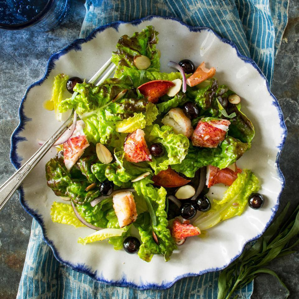 <p>This green salad recipe with berries is a delicious way to get your antioxidants. You can also try this salad with crab or shrimp if fresh lobster is hard to find. Serve with crusty garlic bread.</p>