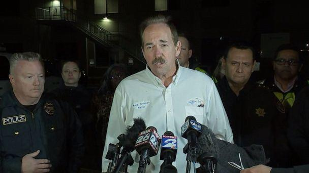 PHOTO: Nassau Bay, Texas, Mayor Mark Denman speaks to reporters after Nassau Bay police Sgt. Kaila Sullivan was killed while trying to arrest a suspect, Dec. 10, 2019. (KTRK)