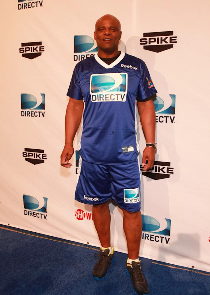 NFL legend Warren Moon arrives at the DirecTV Celebrity Beach Bowl in Indianapolis.
