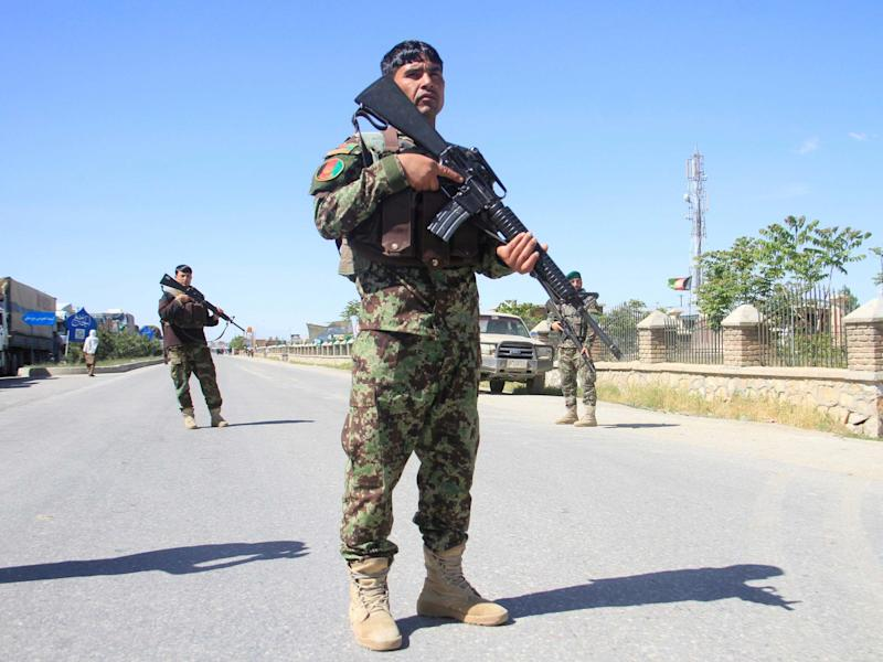 Afghan national army forces stand guard in Ghazni province, Afghanistan: REUTERS