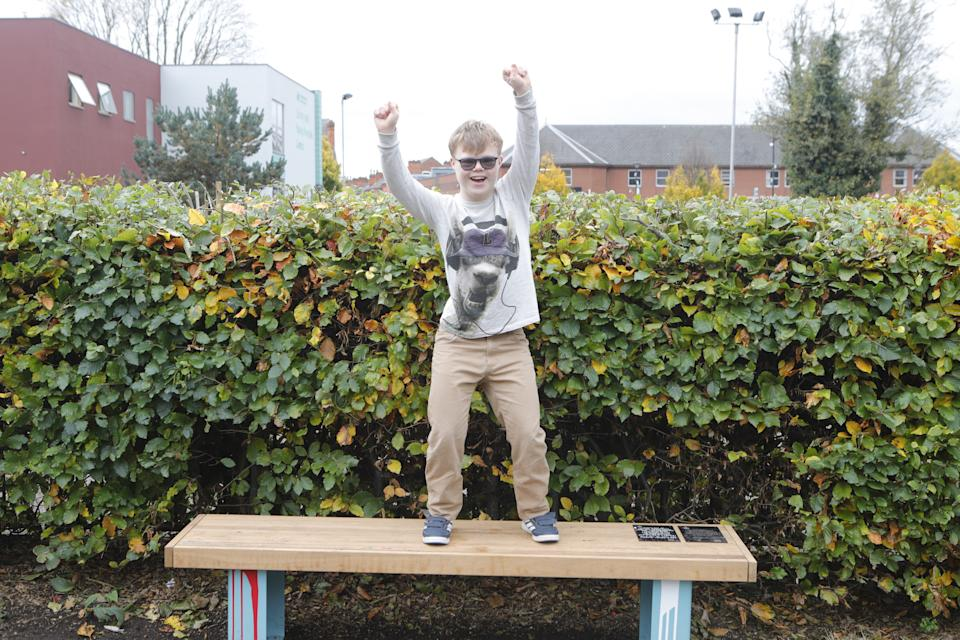 Joseph's inspirational work supporting Footprints families have led to a bench being built in his local Bridgford Park