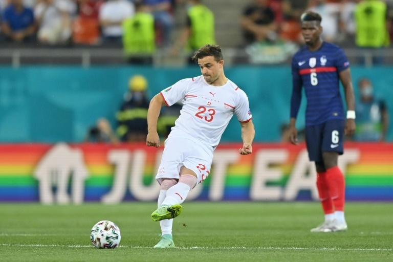 Shaqiri will wear the captain's armband with Xhaka suspended for the quarter-final
