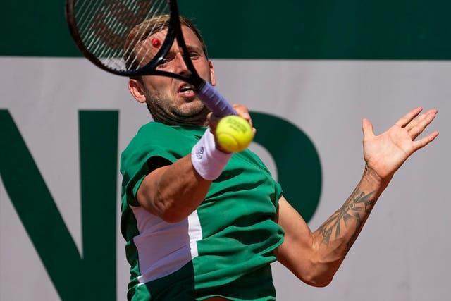 Dan Evans was beaten 1-6 6-3 6-3 6-4 by Serbia's Miomir Kecmanovic in the French Open first round at Roland Garros