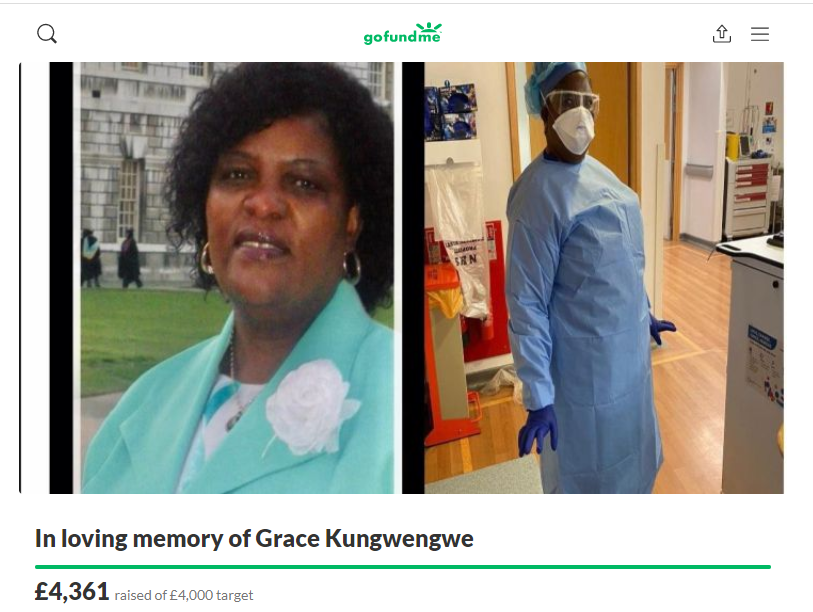 A fundraising page has been set up in Grace Kungwengwe's memory (GoFundMe/PA)