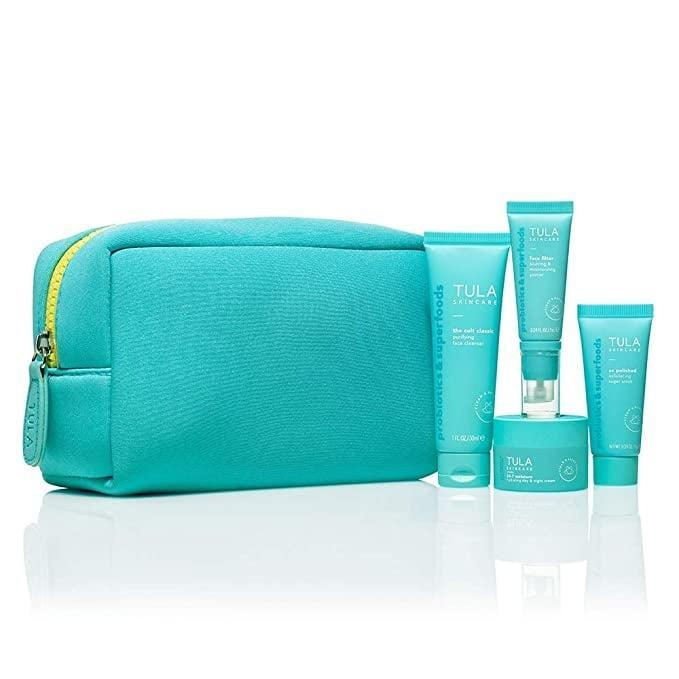 <p>Try out bestselling products from Tula with the <span>TULA Probiotic Skin Care On the Go Best Sellers Travel Kit</span> ($52).</p>