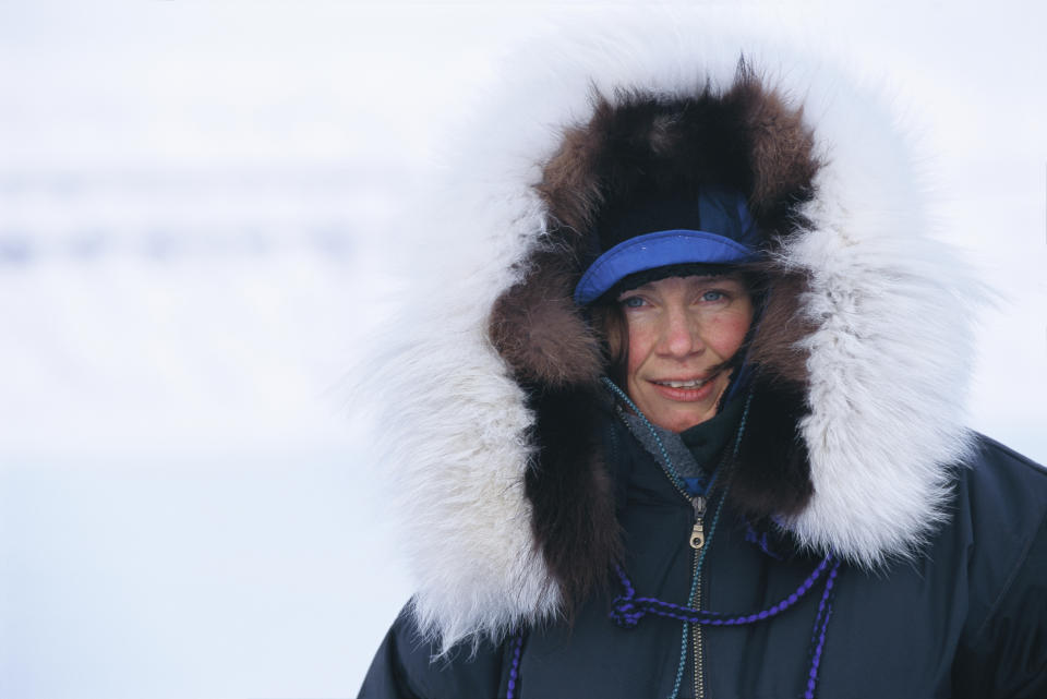 Off to the beach in July: Women do feel the cold. (Getty Images)